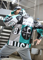 DOPE couture More Jackets Short Unisex Nylon Street Style Bi-color Windbreaker Logo 6