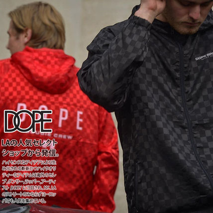 DOPE couture More Jackets Short Monogram Unisex Nylon Street Style Windbreaker Logo