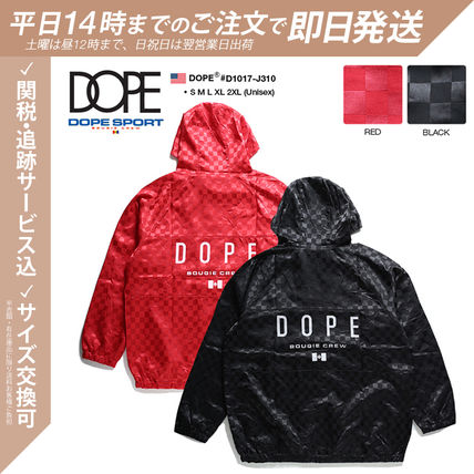 DOPE couture More Jackets Short Monogram Unisex Nylon Street Style Windbreaker Logo 3