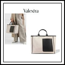 Valextra Canvas Office Style Totes