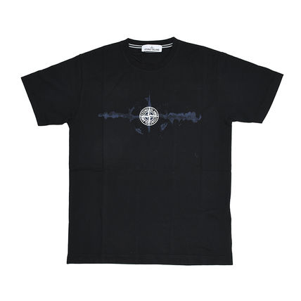 STONE ISLAND Crew Neck Crew Neck Street Style Plain Cotton Short Sleeves 2