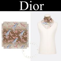 Christian Dior Flower Patterns Silk Street Style Other Animal Patterns