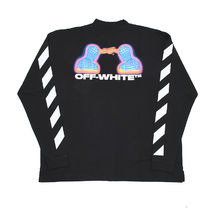 Off-White Crew Neck Street Style Long Sleeves Cotton