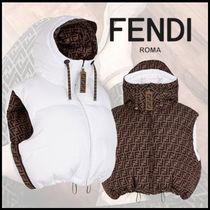 FENDI Short Monogram Street Style Down Jackets