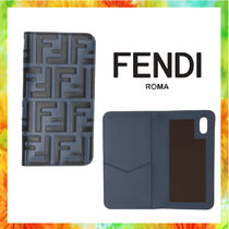FENDI FOREVER Unisex Street Style Leather Smart Phone Cases