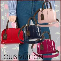 Louis Vuitton ALMA Monogram Blended Fabrics 2WAY Bi-color Leather Elegant Style