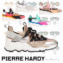 Pierre Hardy Leather Low-Top Sneakers