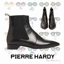 Pierre Hardy Rubber Sole Plain Leather Ankle & Booties Boots