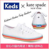 kate spade new york Round Toe Rubber Sole Casual Style Plain Low-Top Sneakers
