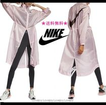 Nike Casual Style Nylon Long Trench Coats