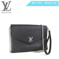 Louis Vuitton LOCKME Plain Leather Elegant Style Totes