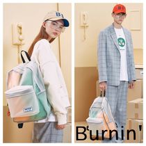 BURNING Casual Style Unisex Street Style A4 Plain Crystal Clear Bags