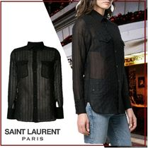Saint Laurent Silk Long Sleeves Shirts & Blouses