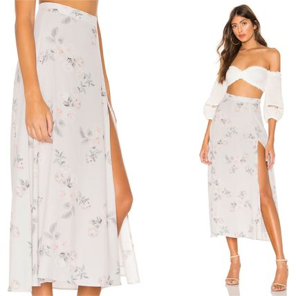 Flower Patterns Casual Style Long Maxi Skirts