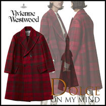 Vivienne Westwood Tartan Wool Medium Peacoats
