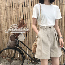 Short Casual Style Plain Oversized Shorts