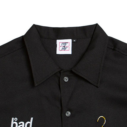 BADINBAD Shirts Unisex Street Style Plain Short Sleeves Shirts 15