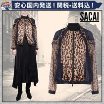 sacai Leopard Patterns Casual Style Long Sleeves Plain Medium