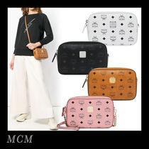 MCM Monogram Casual Style 2WAY Chain Shoulder Bags