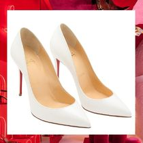 Christian Louboutin Pigalle Follies Plain Leather Pin Heels Elegant Style
