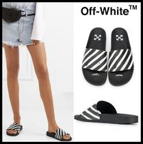 Off-White Street Style Shower Shoes Shower Sandals