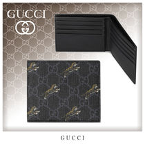 GUCCI Unisex Other Animal Patterns Leather Folding Wallets