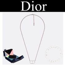 Christian Dior Street Style Chain Plain Silver Necklaces & Chokers