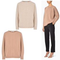 MaxMara Casual Style Cashmere Long Sleeves Cashmere