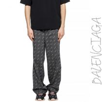 BALENCIAGA Printed Pants Other Check Patterns Street Style Cotton