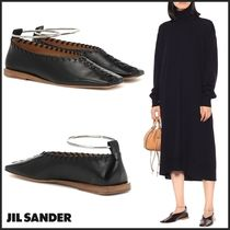 Jil Sander Platform Casual Style Plain Leather Lace-Up Shoes