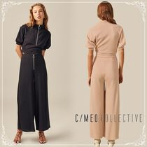 Cameo the Label Plain Long Midi Elegant Style Culottes & Gaucho Pants