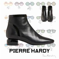 Pierre Hardy Square Toe Plain Leather Chunky Heels Ankle & Booties Boots