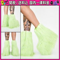 DOLLS KILL Platform Round Toe Casual Style Faux Fur Plain