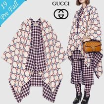 GUCCI Wool Bi-color Medium Ponchos & Capes