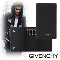 GIVENCHY Street Style Plain Leather Keychains & Holders