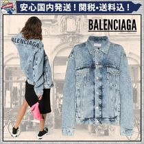 BALENCIAGA Short Denim Plain Jackets