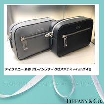 Tiffany & Co 2WAY Plain Leather Elegant Style Shoulder Bags