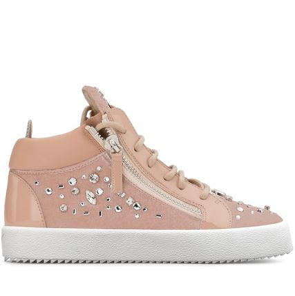 Plain With Jewels Low-Top Sneakers