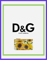 Dolce & Gabbana Flower Patterns Street Style Card Holders