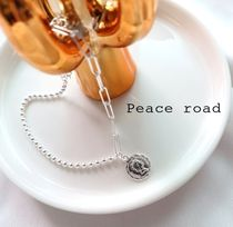 Casual Style Blended Fabrics Silver Anklets