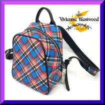 Vivienne Westwood Tartan Casual Style Unisex Canvas Blended Fabrics Backpacks