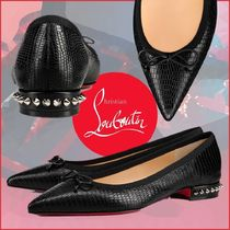 Christian Louboutin Other Animal Patterns Leather Elegant Style Slip-On Shoes
