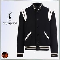 Saint Laurent Wool Varsity Jackets