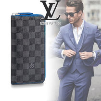 Louis Vuitton DAMIER GRAPHITE Other Check Patterns Canvas Blended Fabrics Street Style