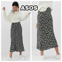 ASOS Flared Skirts Casual Style Chiffon Other Animal Patterns