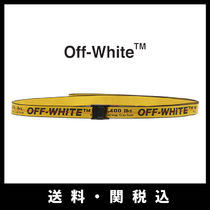 Off-White Street Style Bi-color Belts