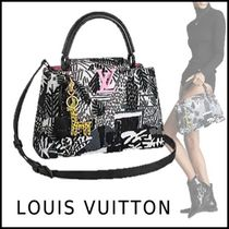 Louis Vuitton 2019-20AW ARTYCAPUCINES PM JONAS WOOD black free bag
