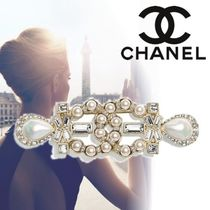 CHANEL Unisex Blended Fabrics With Jewels Wedding Jewelry