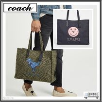 Coach Unisex Street Style Collaboration A4 Other Animal Patterns