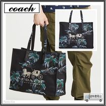 Coach Unisex Street Style A4 Other Animal Patterns Leather Totes
